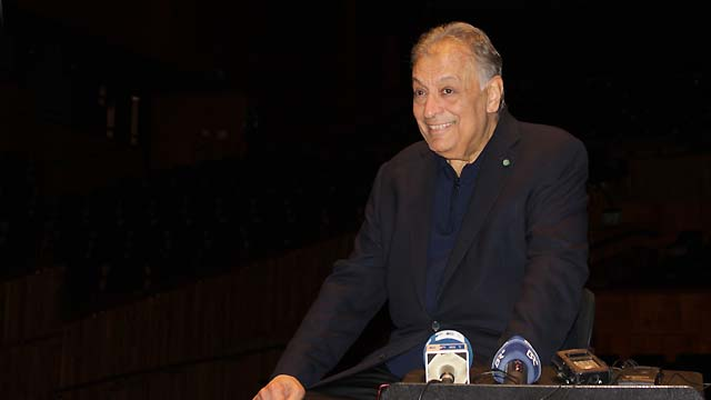 Zubin Mehta beim Interview in Israel (Bild: Jennifer Bligh).