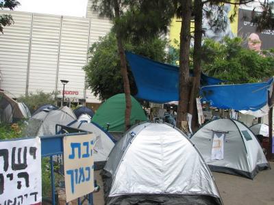 Proteste gegen hohe Mieten in Haifa, 2011 (Bild: Wikimedia/Hanay)