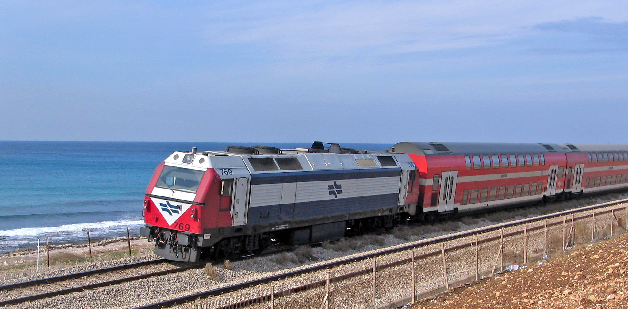 Kein Zugverkehr zwischen Haifa und Tel Aviv Anfang der Woche (Bild: Alexander Lysyi/Wikimedia).