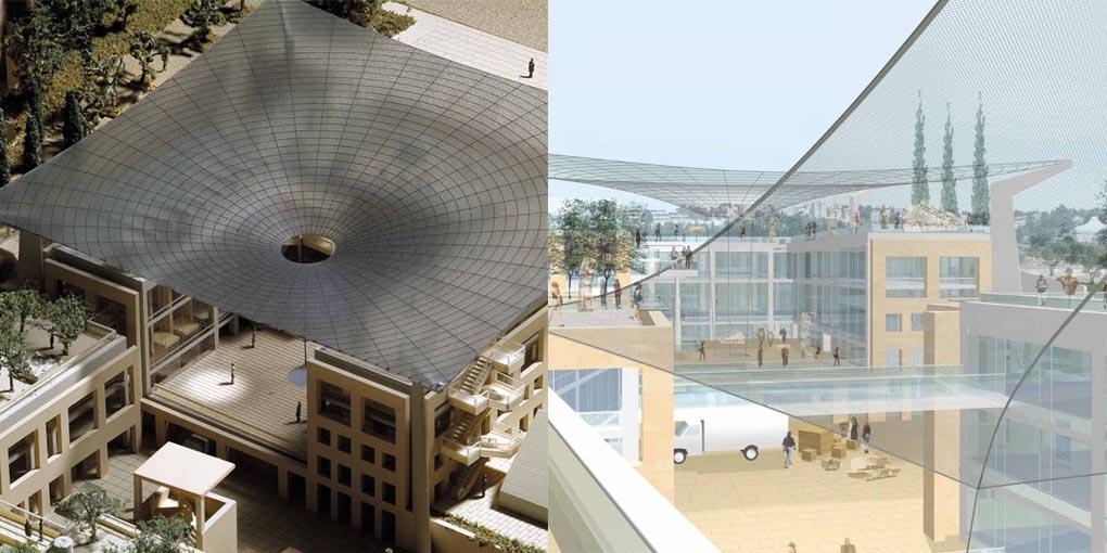 Die berühmte Handschrift des Star-Architekten Moshe Safdie in Jerusalem. (Foto: Screenshot IAA)