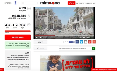 Die Spendenaktion für Syrien in Israel (Bild: Screenshot).