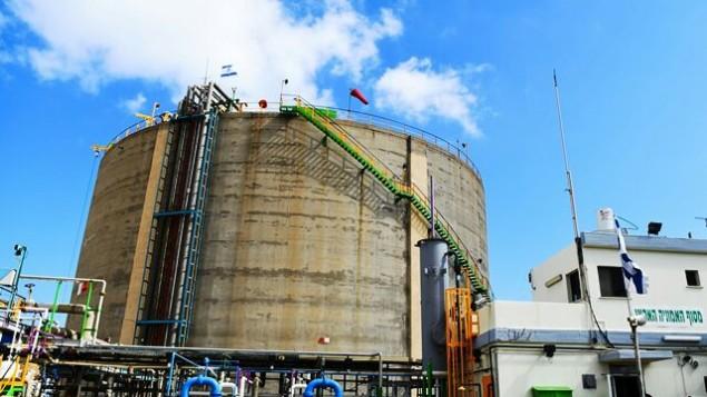 Das Ammoniaktanklager in Haifa (Bild: Ministerium für Umweltschutz)