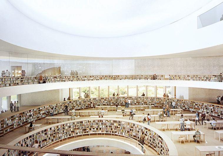So soll die neue Nationalbibliothek von innen aussehen (Bild: HERZOG AND DE MEURON ARCHITECTS)