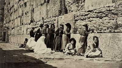 Betende Juden an der Klagemauer (Bild: Bonfils/SWNS.com).