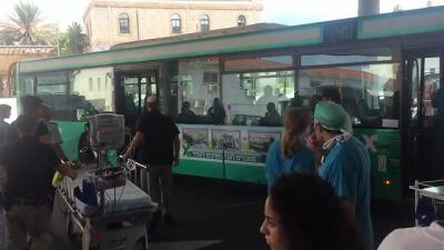 Linienbusse halten sicherlich eher selten vor der Notaufnahme des Rambam-Krankenhauses in Haifa (Bild: Rambam Krankenhaus).