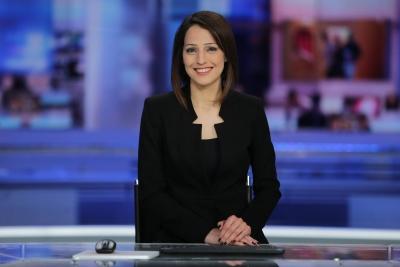 Die erste drusische Nachrichtensprecherin Ghadir Kamal Meriach (Bild: Channel 1 Facebook)