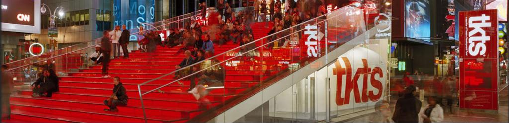 Der TKTS-Verkauf am Times Square in New York ist Vorbild für die (kleinere) Tel Aviver Version (Bild: TKTS Webseite)